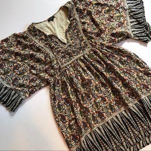 Tolani boho peasant embellished dress